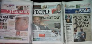 The Kenyan Headlines: NOT GAY